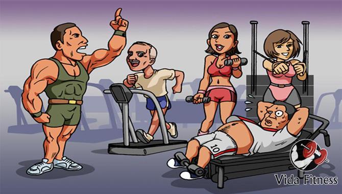 Personajes graciosos del gym
