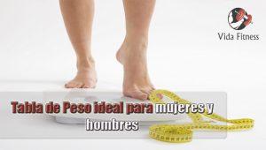 peso ideal para mujeres