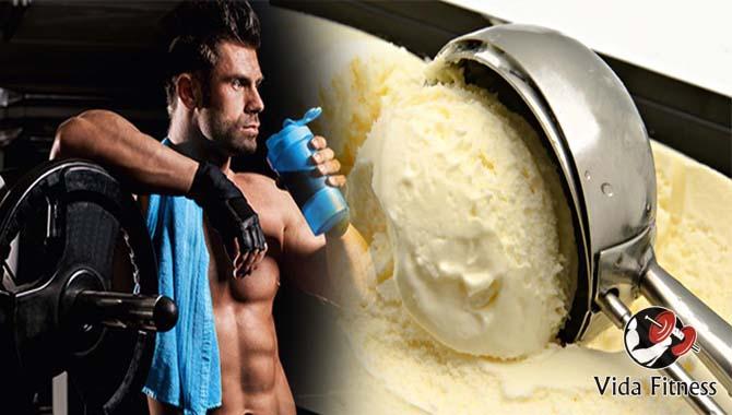 helado de proteínas casero