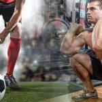 entrenamiento de pesas y el futbol